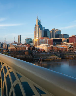 Nashville skyline from bridge